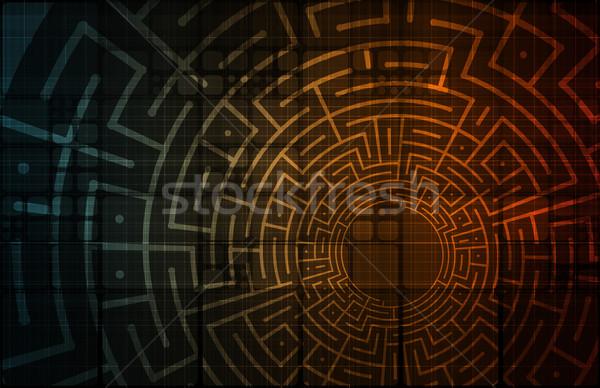 Tecnología de la información datos red fondo empresarial empresa Foto stock © kentoh