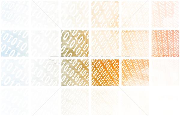 Digital senal tecnología resumen patrón arte Foto stock © kentoh