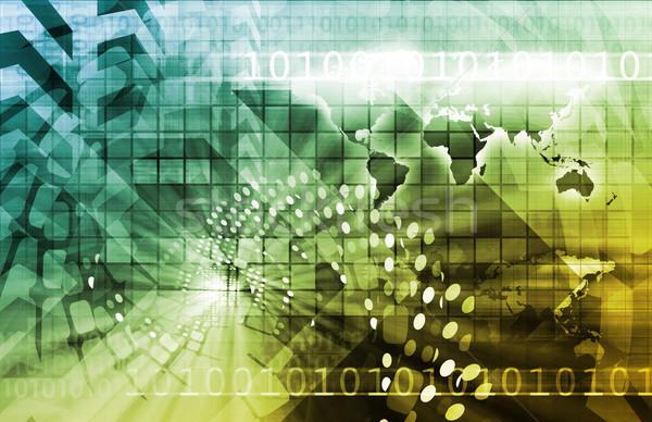Télécommunications technologie infrastructure ordinateur carte fond Photo stock © kentoh