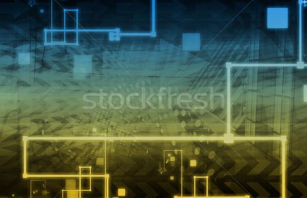 Tecnologia da informação dados rede fundo corporativo companhia Foto stock © kentoh