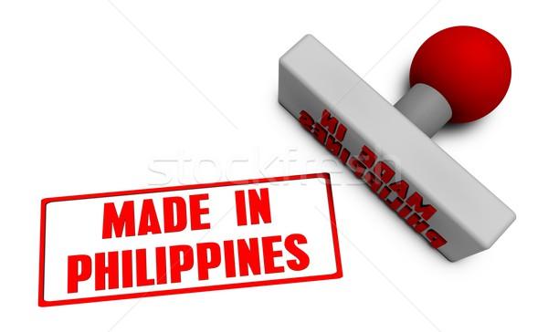 Filipinas carimbo papel 3D frutas Foto stock © kentoh