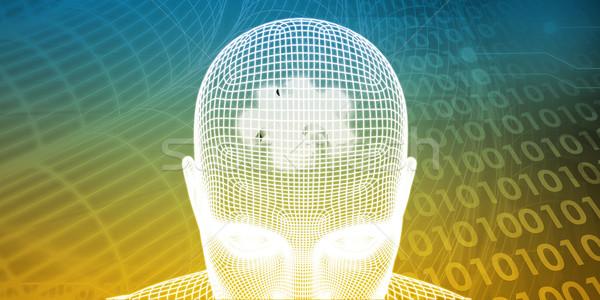 Cerveau processeur humaine esprit mémoire ordinateur Photo stock © kentoh