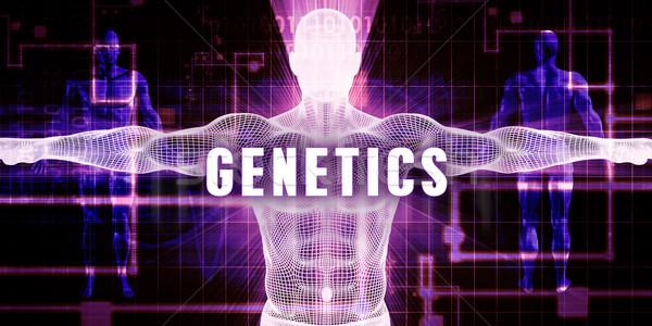 генетика цифровая технология медицинской искусства человека технологий Сток-фото © kentoh