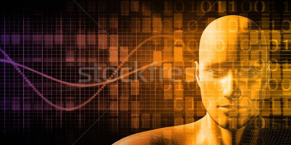 Ciência tecnologia corpo abstrato natureza modelo Foto stock © kentoh