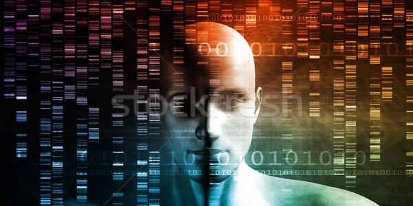 Genético teste análise abstrato educação medicina Foto stock © kentoh