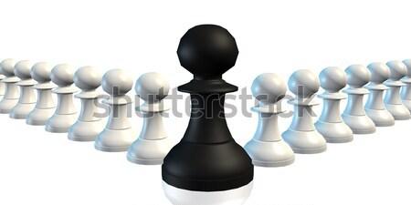 Alkalmazottak menedzser üzlet sakk stratégia csapat Stock fotó © kentoh