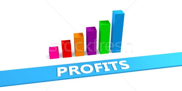 Groot goede grafiek tonen vooruitgang Stockfoto © kentoh