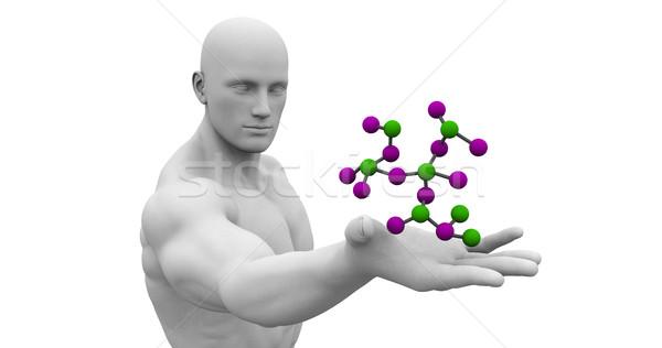 химии науки человека глядя молекулярный формула Сток-фото © kentoh