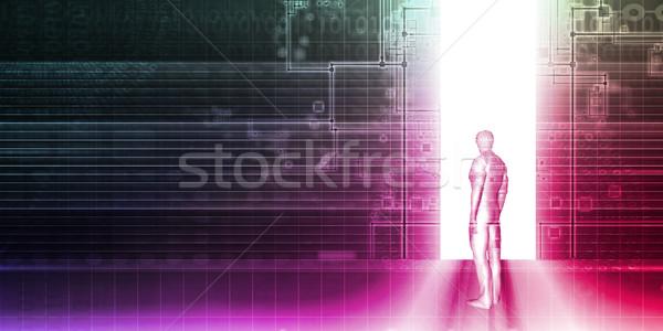デジタル技術 ネットワーク 芸術 セキュリティ 通信 将来 ストックフォト © kentoh