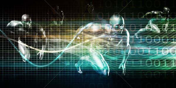 現代 ワイヤレス技術 社会的ネットワーク 技術 抽象的な 技術 ストックフォト © kentoh