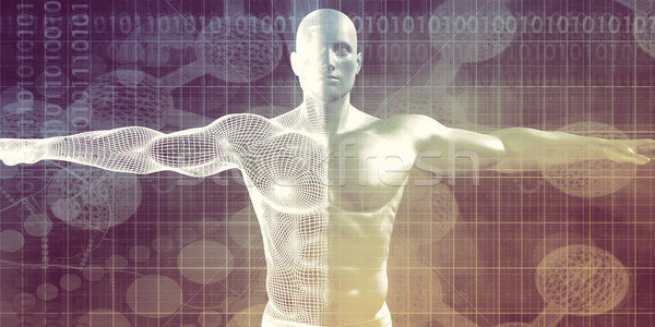 Ciência tecnologia dados abstrato arte médico Foto stock © kentoh