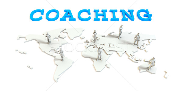 Coaching Global Business Stock photo © kentoh