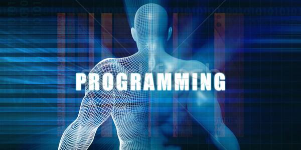 Programmazione futuristico abstract tecnologia Foto d'archivio © kentoh