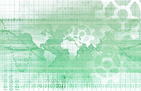 Global ağ örnek sanat temas izlemek Stok fotoğraf © kentoh