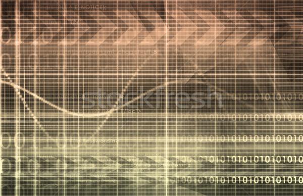 Tecnología de la información datos red resumen fondo empresarial Foto stock © kentoh