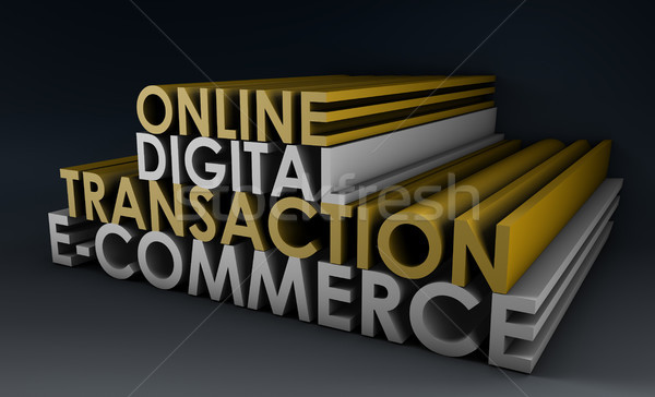 Online Digital Transaction Stock photo © kentoh
