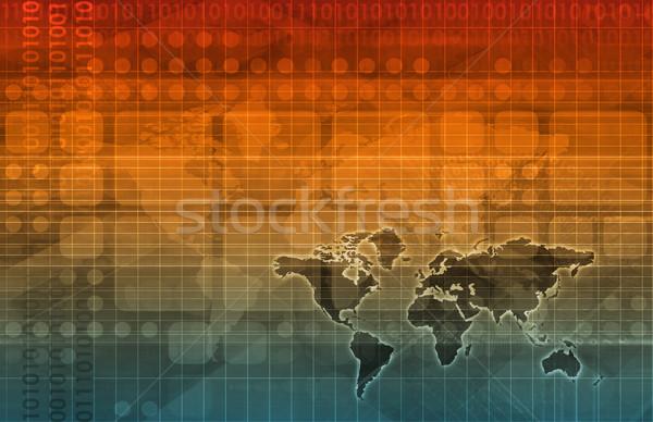 Data Grid Stock photo © kentoh
