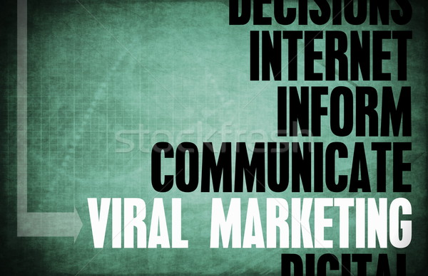 Viral marketing core principes affaires bleu Photo stock © kentoh
