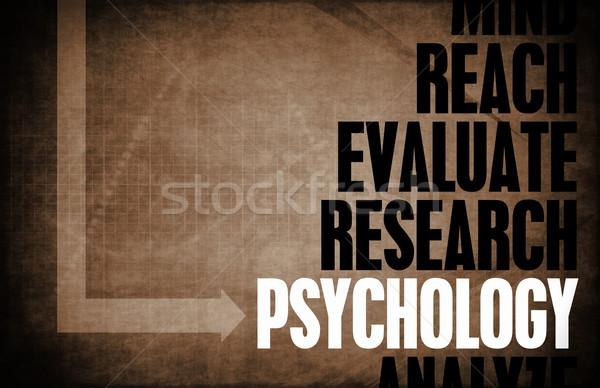 Pszichológia kulcs fogalmak tudományos tanulás textúra Stock fotó © kentoh
