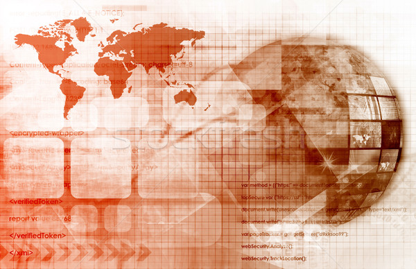 Digitale wereldbol multimedia internet achtergrond netwerk Stockfoto © kentoh