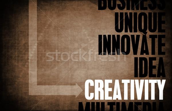Creativiteit kern principes business retro digitale Stockfoto © kentoh