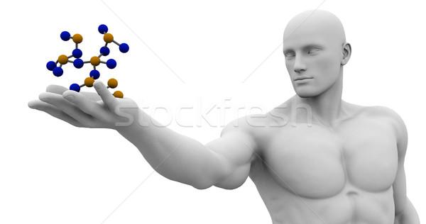 Technologie wetenschapper abstract achtergrond Stockfoto © kentoh