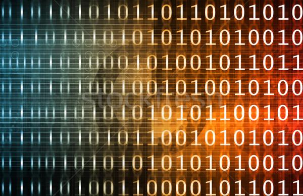 Binário tecnologia córrego abstrato comunicação software Foto stock © kentoh