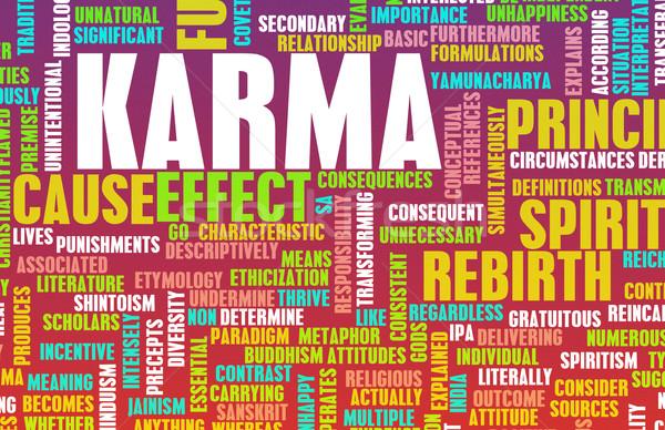 Karma spirituális absztrakt művészet tanul tanul Stock fotó © kentoh