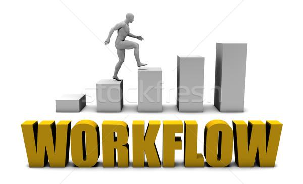 Flusso di lavoro business processo ufficio corporate Foto d'archivio © kentoh