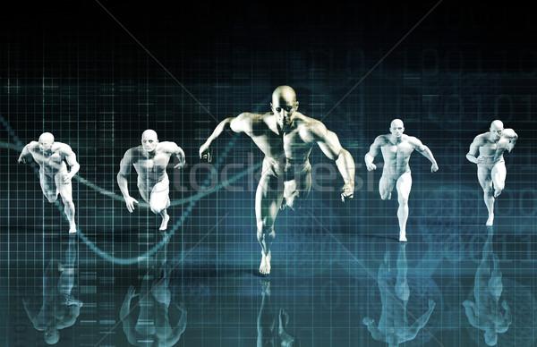 Science entraînement Ouvrir la santé sport Photo stock © kentoh