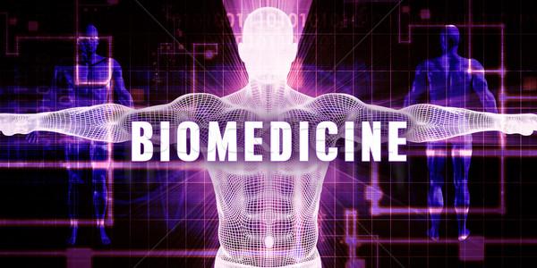 Digitális technológia orvosi művészet férfi absztrakt háttér Stock fotó © kentoh