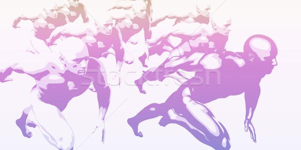 équipe esprit collègues résumé foule Photo stock © kentoh