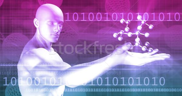 Genético código ADN proteína arte salud Foto stock © kentoh