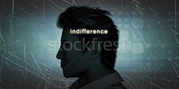 Man Experiencing Indifference Stock photo © kentoh