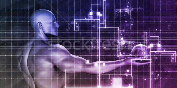 Internet konnektivitás mobilitás szoftver absztrakt technológia Stock fotó © kentoh
