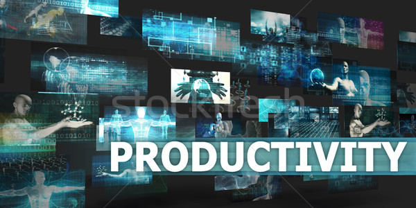 Produktiviteit presentatie technologie abstract kunst internet Stockfoto © kentoh