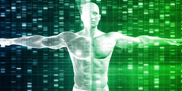 Medische onderzoek business achtergrond geneeskunde industrie Stockfoto © kentoh