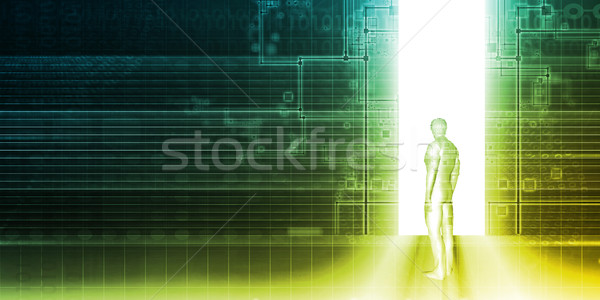 Seguridad acceso control negocios Internet tecnología Foto stock © kentoh