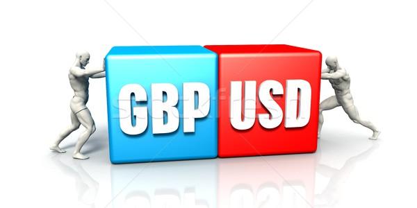 GBP USD Currency Pair Stock photo © kentoh