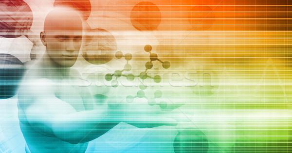 Medici scoperta nuovo idea ricerca modello Foto d'archivio © kentoh