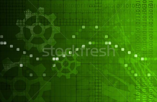 Software toepassing gegevens abstract web net Stockfoto © kentoh