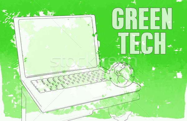 Yeşil teknoloji pc bilgisayar ağ gelecek Stok fotoğraf © kentoh