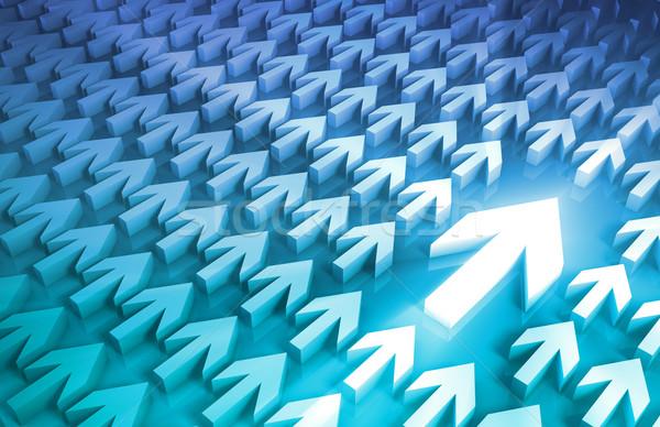 Negocios líder la toma de decisiones proceso flechas trabajo Foto stock © kentoh