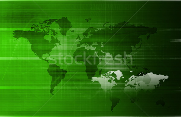 Commerce mondial internationaux entreprise texture carte fond Photo stock © kentoh