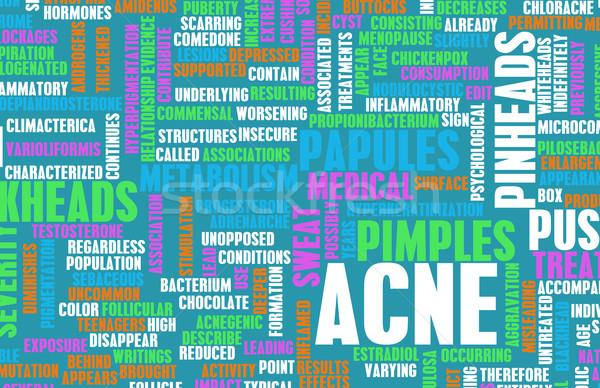 Acne probleem behandeling abstract huid concept Stockfoto © kentoh