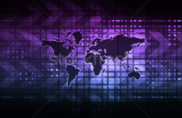 Global de negócios rede crescimento arte computador Foto stock © kentoh