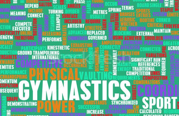 Gymnastik sportlich wettbewerbsfähig Sport Kunst abstrakten Stock foto © kentoh