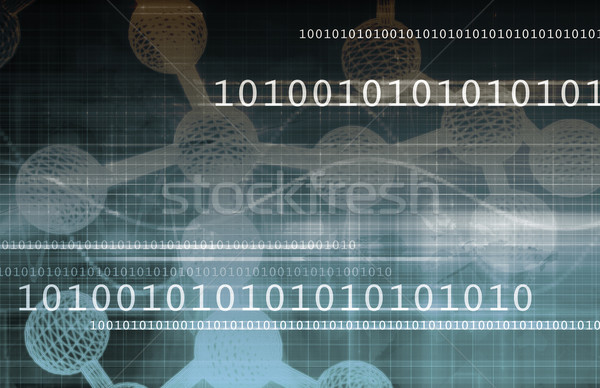 Stockfoto: Moleculair · structuur · model · web · geneeskunde · patroon