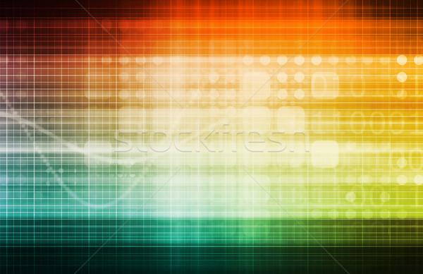 Сток-фото: бизнеса · диаграммы · технологий · искусства · фон · пространстве