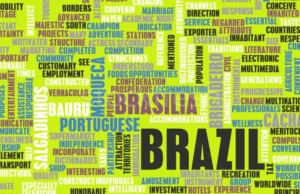 Brésil pays résumé art affaires football Photo stock © kentoh